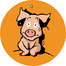 Cochon appeuré