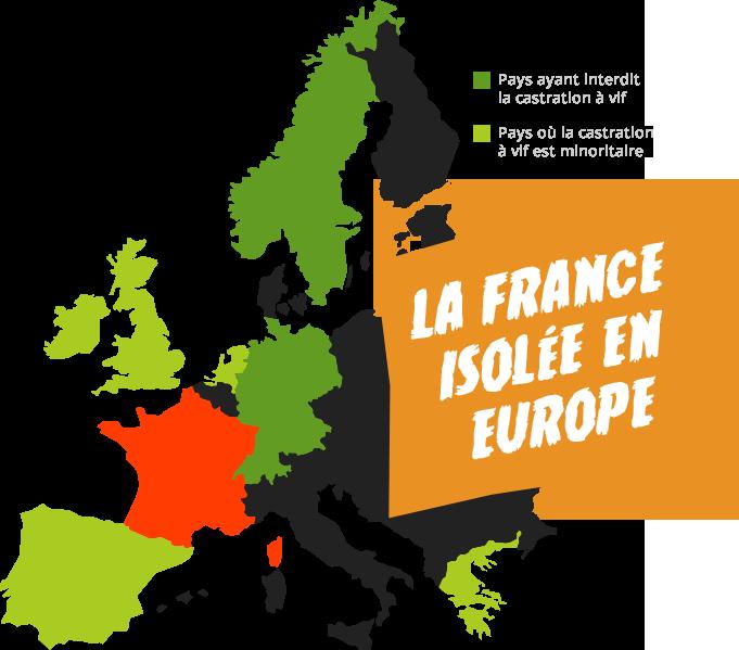 La France isolé en Europe